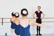 Bay Pointe Ballet students take class at the Bay Pointe Ballet studios in South San Francisco, California, on October 8, 2014. (Stan Olszewski/SOSKIphoto)
