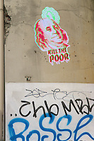 Kill the poor. Street art in Berlin.