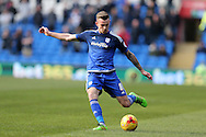 Joe Ralls of Cardiff city in action. Skybet football league championship match, Cardiff city v Preston NE at the Cardiff city stadium in Cardiff, South Wales on Saturday 27th Feb 2016.<br /> pic by  Andrew Orchard, Andrew Orchard sports photography.