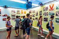 A display of photoraphs of anti-Vietnam War demonstations around the world, The War Remnants Museum, Ho Chi Minh City (Saigon), Vietnam.