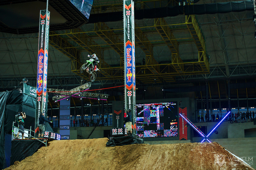 Brian Foster during Moto X Step Up Finals at the 2013 X Games Barcelona in Barcelona, Spain. ©Brett Wilhelm/ESPN