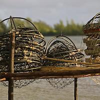 Huahine, French Polynesia, Maeva, fish nets