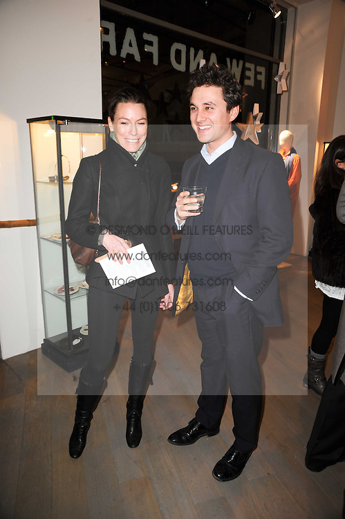 JESSICA CRAIG and THOMAS VAN STRAUBENZEE at reception to raise funds for a Ugandan School Project supported by the Henry van Straubenzee Memorial Fund held at Few & Far, 242 Brompton Road, London SW3 on 11th February 2010.