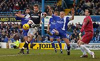 Photo: Alan Crowhurst.<br />Cardiff City v Hull FC. Coca Cola Championship. 18/02/2006. <br />John Parkin goes close for Hull.