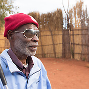 CAPTION: Living in Mozambique's Niassa Province, Casimiro Aduwa Caisse is a small business owner who lost his sight at the age of 18. Caisse struggled to find his feet after his impairment, which left him unable to continue with his work. The struggle endured until he found the Association of Blind and Partially Sighted People (ACAMO) in 2002. His involvement with this organisation gave him a new lease of life, and he devoted himself to this. Over the years, he has risen to become ACAMO's Second Provincial Delegate. LOCATION: Nzinje Village, Lichinga, Niassa Province, Mozambique. INDIVIDUAL(S) PHOTOGRAPHED: Casimiro Adua Caisse.
