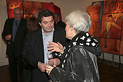 Michael  Rogatchi and Barbara Fisher, The Real Dream, private view for an exhibition of work by Michael Rogatchi. Cork St. London.  5 December 2006. ONE TIME USE ONLY - DO NOT ARCHIVE  © Copyright Photograph by Dafydd Jones 248 CLAPHAM PARK RD. LONDON SW90PZ.  Tel 020 7733 0108 www.dafjones.com