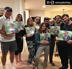 """Pete Souza releases a photo on Instagram with the following caption: """"#Repost @ronnydonkey \u30fb\u30fb\u30fb\nWhen everyone in the family unintentionally gets each other the same gift. Thanks, @petesouza"""". Photo Credit: Instagram *** No USA Distribution *** For Editorial Use Only *** Not to be Published in Books or Photo Books ***  Please note: Fees charged by the agency are for the agency's services only, and do not, nor are they intended to, convey to the user any ownership of Copyright or License in the material. The agency does not claim any ownership including but not limited to Copyright or License in the attached material. By publishing this material you expressly agree to indemnify and to hold the agency and its directors, shareholders and employees harmless from any loss, claims, damages, demands, expenses (including legal fees), or any causes of action or allegation against the agency arising out of or connected in any way with publication of the material."""