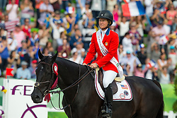 Beezie Madden and Cortes C win bronze individual jumping - Show Jumping Final Four - Alltech FEI World Equestrian Games™ 2014 - Normandy, France.<br /> © Hippo Foto Team - Leanjo de Koster<br /> 07-09-14