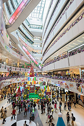Interior of APM shopping Mall at Millenium City property development in Kwun Tong Hong Kong