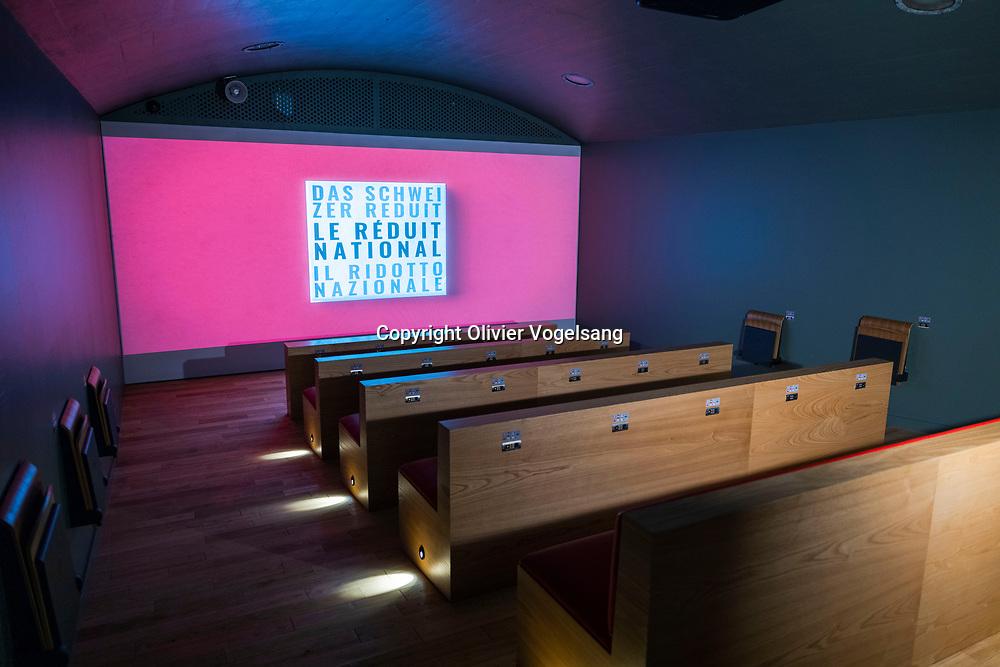 Veytaux, Fort de Chillon, 10 décembre 2020. La deuxième vie du fort de Chillon. Visite de l'expo interactive. © Olivier Vogelsang