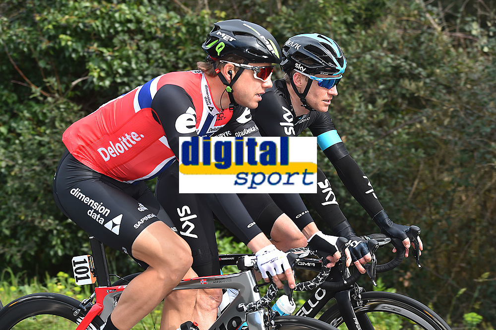 BOASSON HAGEN Edvald (NOR) Dimension Data, during the 51th Tirreno - Adriatico 2016, Stage 2, Camaiore - Pomarance (207Km) in Italy, on March 10, 2016 - Photo Tim de Waele / DPPI