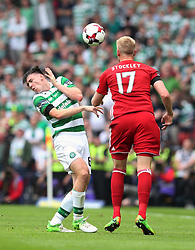 Celtic's Kieran Tierney suffers a facial injury during the William Hill Scottish Cup final at Hampden Park, Glasgow.