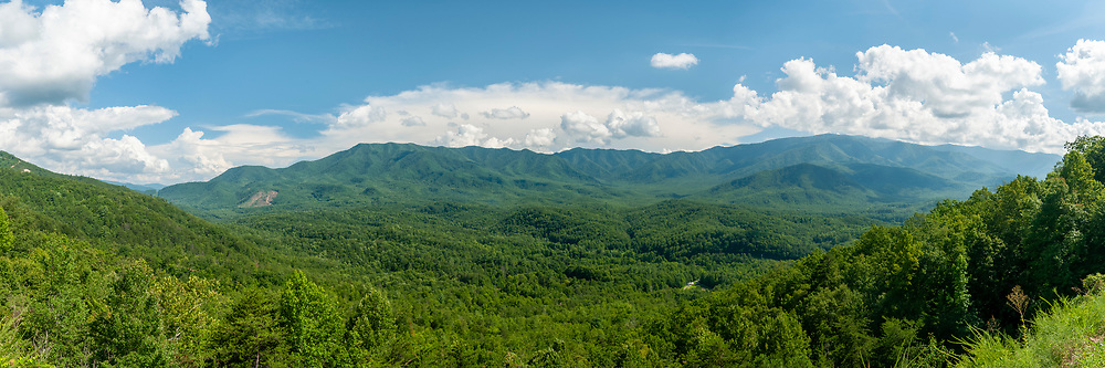 View from the Mount Cammerer Overlook on the Foothills Parkway in Great Smoky Mountains National Park in Cosby, Tennessee on Tuesday, August 11, 2020. Copyright 2020 Jason Barnette