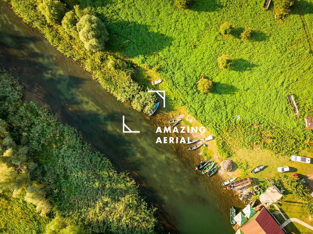 Aerial view of Dodosi, Lake Skadar, Montenegro