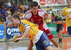 Nejc Poklar at MIK First league Handball match between RK Cimos Koper and RD Slovan, on May 9, 2009, in SRC Bonifika, Koper, Slovenia.  (Photo by Vid Ponikvar / Sportida)