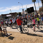 Bicyclists before the start of Ride On, Tucson, 2013. Bike-tography by Martha Retallick.