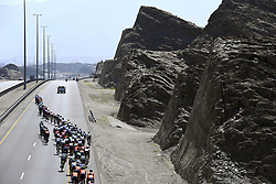 February 15, 2018 - Muscat, Oman - Illustration picture of the peloton during stage 3 of the 9th edition of the 2018 Tour of Oman cycling race, a stage of 179.5 kms between German University of Technology and Wadi Dayqah Dam on February 15, 2018 in Muscat, Sultanate Of Oman, 15/02/2018 (Credit Image: © Panoramic via ZUMA Press)