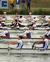 Photo: Chris Ratcliffe.<br /> <br /> World Rowing Championships. 24/08/2006.<br /> <br /> Side view of the Women's Eight at the World Rowing Championships.
