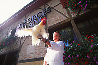 Georges Blanc with a Bresse Chicken
