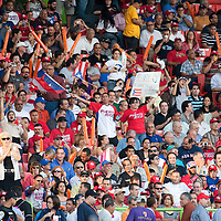 11 March 2009: Fans celebrate as Puerto Rico scores during the first inning of the 2009 World Baseball Classic Pool D game 6 at Hiram Bithorn Stadium in San Juan, Puerto Rico. Puerto Rico wins 5-0 over the Netherlands.
