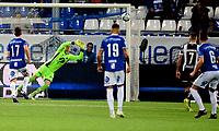 Fotball , 27. april 2019 , Eliteserien , Sarpsborg - Mjøndalen 1-1<br /> <br /> Nicolai Næss 6 , S08, scorer her på Julian Faye Lund , MIF