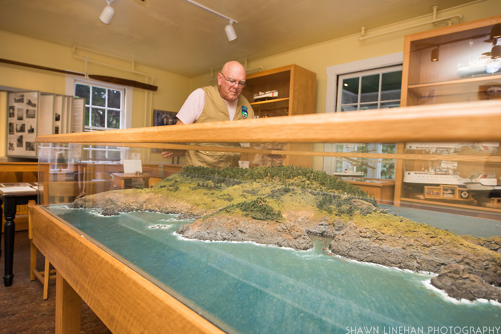 The Port Orford Lifeboat Station is a museum and interpretive center in southern Oregon. A topographical scale model of the beach area at Port Orford, Oregon is on display.