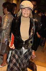 """ANITA PALLENBERG at a party hosted by Christopher Bailey to celebrate the launch of """"The Snippy World of New Yorker Fashion Artist Michael Roberts"""" held at Burberry, 21-23 New Bond Street, London on 20th September 2005.<br /><br />NON EXCLUSIVE - WORLD RIGHTS"""