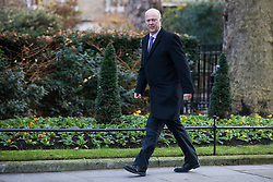 © Licensed to London News Pictures. 19/12/2017. London, UK. Transport Secretary Chris Grayling arrives on Downing Street for the weekly Cabinet meeting. Photo credit: Rob Pinney/LNP