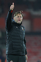 Football - 2018 / 2019 Premier League - Southampton vs. Everton<br /> <br /> Southampton Manager Ralph Hasenhuttl gives the home fans the thumbs up after the final whistle at St Mary's Stadium Southampton<br /> <br /> COLORSPORT/SHAUN BOGGUST