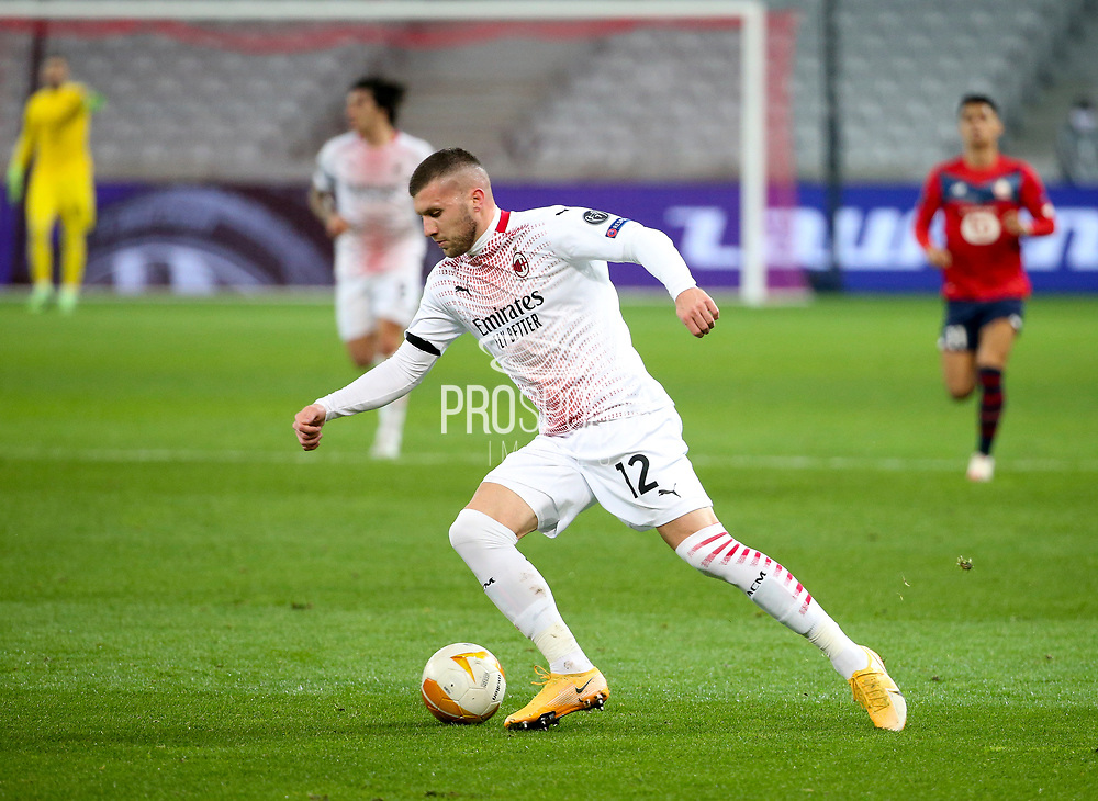 Ante Rebic of AC Milan during the UEFA Europa League, Group H football match between Lille OSC and AC Milan on November 26, 2020 at Pierre Mauroy stadium in Villeneuve-d'Ascq near Lille, France - Photo Jean Catuffe / ProSportsImages / DPPI
