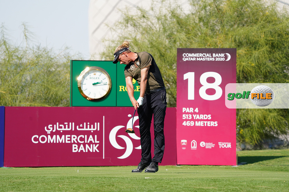 Marcel Siem (GER) on the 18th during Round 1 of the Commercial Bank Qatar Masters 2020 at the Education City Golf Club, Doha, Qatar . 05/03/2020<br /> Picture: Golffile | Thos Caffrey<br /> <br /> <br /> All photo usage must carry mandatory copyright credit (© Golffile | Thos Caffrey)