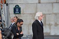 Patrick Sébastien Obsèques de Jacques Chirac Lundi 30 Septembre 2019 église Saint Sulpice Paris