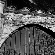 The old cemetery gate entrance to the Confederate Cemetery in Fredericksburg, Virginia.