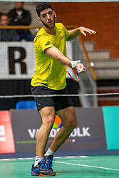 Aram Mahmoud during the Dutch Championships Badminton on February 1, 2020 in Topsporthal Almere, Netherlands