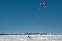 Snow Kiting on Lake Winnipesaukee March 1, 2011.