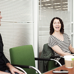 NEW YORK, NY - JUNE 14, 2010: New York Time's Sarah Kramer (Senior Producer) is behind the 1 in 8 millions project that ran on the web in 2009. Shot at the New York Time Building in New York, NY, USA. 14 June 2010. (Photo by Antoine Doyen)