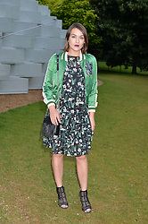 ELLA CATLIFF at a party hosted by fashion store COS to celebrate The Serpentine Park Nights 2016 held at The Serpentine Gallery, Kensington Gardens, London on 12th July 2016.