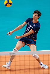 Just Dronkers of Netherlands in action during the CEV Eurovolley 2021 Qualifiers between Croatia and Netherlands at Topsporthall Omnisport on May 16, 2021 in Apeldoorn, Netherlands