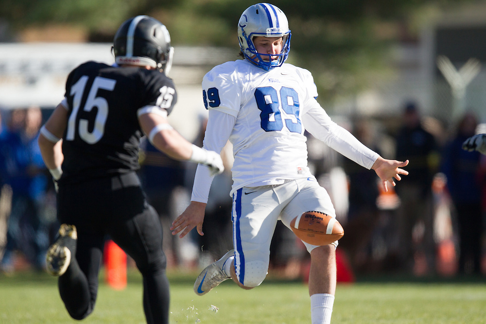 Louw Scheepers, of Colby College, during a NCAA Division III football game against Bowdoin College on November 9, 2013 in Waterville, ME. (Dustin Satloff/Colby College Athletics)