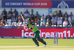 June 28, 2019 - Chester Le Street, County Durham, United Kingdom - Faf du Plessis of South Africa batting during the ICC Cricket World Cup 2019 match between Sri Lanka and South Africa at Emirates Riverside, Chester le Street on Friday 28th June 2019. (Credit Image: © Mi News/NurPhoto via ZUMA Press)