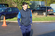 AFC Wimbledon midfielder Callum Reilly (33) arriving for the game during the EFL Sky Bet League 1 match between AFC Wimbledon and Doncaster Rovers at the Cherry Red Records Stadium, Kingston, England on 14 December 2019.