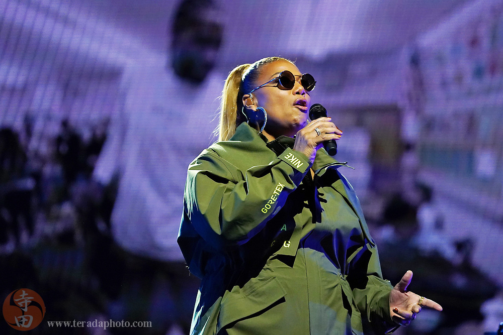 Feb 15, 2020; Chicago, Illinois, USA; Queen Latifah performs during NBA All Star Saturday Night at United Center.
