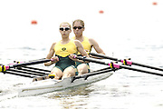 2006 FISA World Cup, Lucerne, SWITZERLAND, 08.07.2006 AUS LW2X, bow Marguerite HOUSTON and Amber HALLIDAY, Photo  Peter Spurrier/Intersport Images email images@intersport-images.com....[Mandatory Credit Peter Spurrier/Intersport Images... Rowing Course, Lake Rottsee, Lucerne, SWITZERLAND.