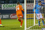 Goal!…Luton Town forward Harry Cornick (14) scores the court goal during the EFL Sky Bet League 1 match between Luton Town and Bradford City at Kenilworth Road, Luton, England on 27 November 2018.