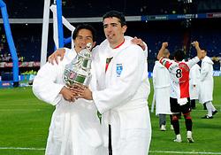 27-04-2008 VOETBAL: KNVB BEKERFINALE FEYENOORD - RODA JC: ROTTERDAM <br /> Feyenoord wint de KNVB beker - Michael Mols en Roy Makaay<br /> ©2008-WWW.FOTOHOOGENDOORN.NL