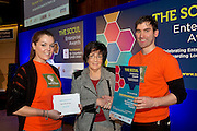 27/01/2014  SCCUL Enterprise Award<br />  <br /> Agriculture & Food<br /> Runner Up<br /> Irelandsrawkitchen.ie <br /> <br /> Phil Grealish (centre)from SCCUL presenting Laura Carroll and Niall Fennell  from Ireland's Raw Kitchen with their prize of €500 cash and a business profile worth €500 in the special SCCUL Enterprise Awards supplement in the Galway Independent in March<br /> <br /> NUA Naturals, previously 'Ireland's Raw Kitchen' is a health food company with a new message.<br /> ONE CHANGE BIG DIFFERENCE. <br /> The message is to release the pressures to live perfectly. By making just one change amazing things can happen.<br /> You can find them on www.nuanaturals.com and in all good health stores.<br />  Photo:Andrew Downes