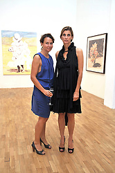 Left to right, CORINNA DURLAND and PRINCESS ROSARIO SAXE-COBURG at a private view of work by artist Elizabeth Peyton 'Live Forever' held at the Whitechapel Gallery, 77-82 Whitechapel High Street, London E1 on 7th July 2009.