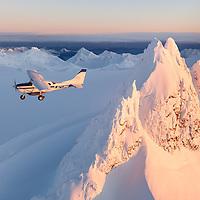 Flightseeing Alaskan winter