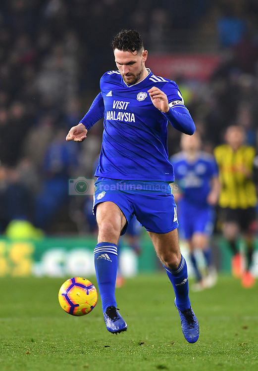 Cardiff City's Sean Morrison in action during the Premier League match at the Cardiff City Stadium.