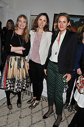 Left to right, CLEMENTINE FRASER, MARIA DE MADARIAGA and CHRISTNE D'ORNANO at a lunch hosted by Roger Vivier held at Bella Pollen's home, 5 Stanley Crescent , London on 29th January 2013.